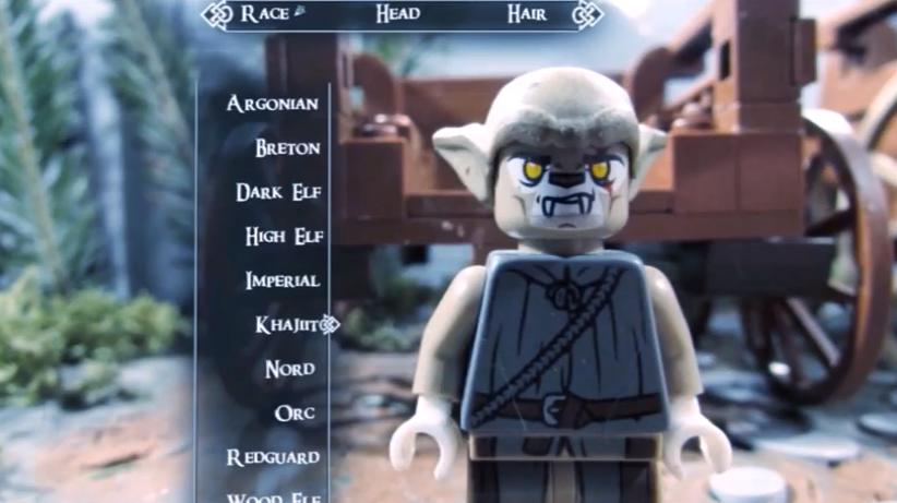 Así es el editor de Lego Skyrim.