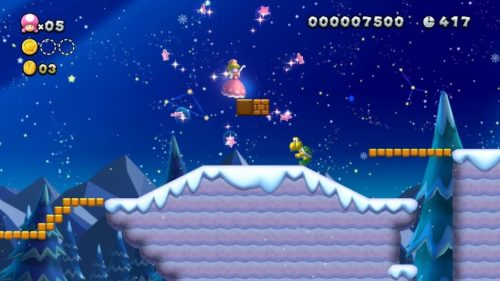 Transformación a Peachette en New Super Mario Bros U Deluxe