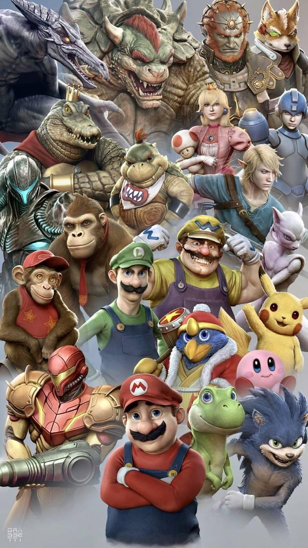 Personajes recreados por Raf Grassetti Super Smash Bros