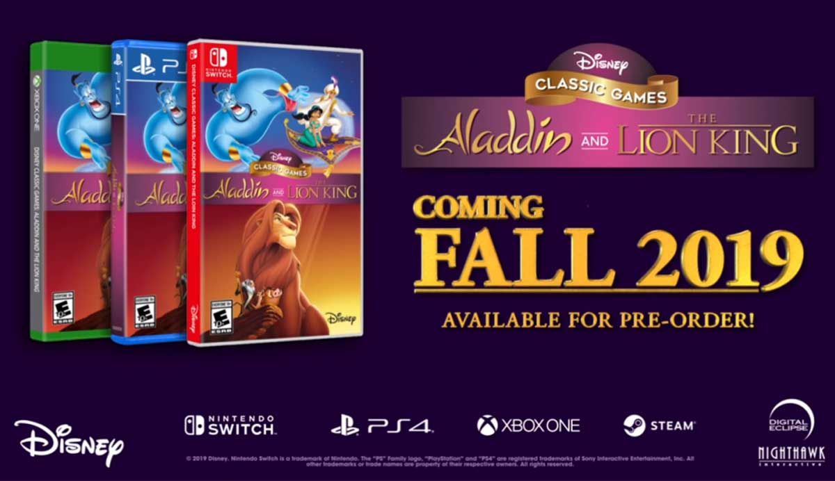 El Rey León y Aladdin serán remasterizados para PS4, Switch y Xbox One